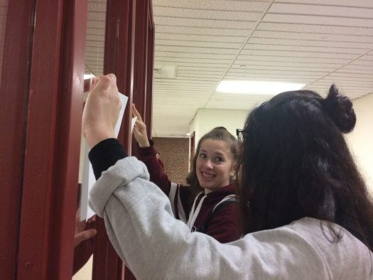 NH Scholars hung posters advertising the Mini-Fest