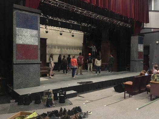 Cast and crew have been rehearsing daily