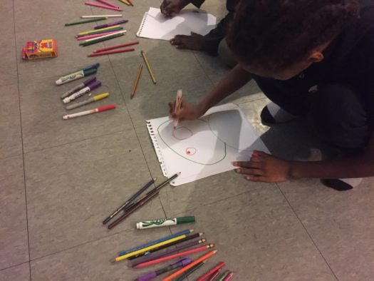 Very young artists at work