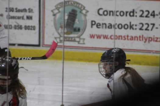 Concord Capitols forward Sydney Brown follows the action closely