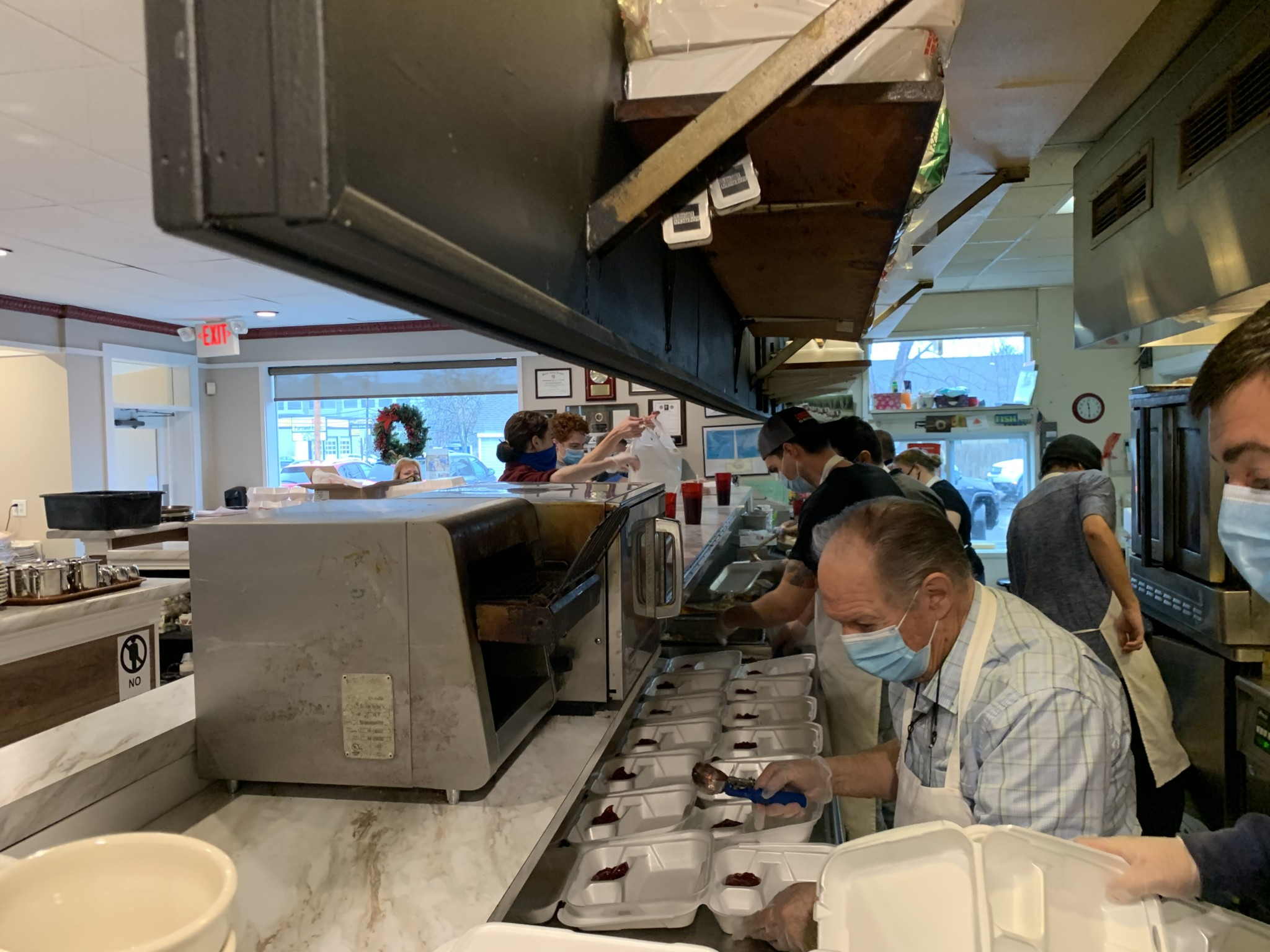 The Windmill kitchen was packed on Thanksgiving Day