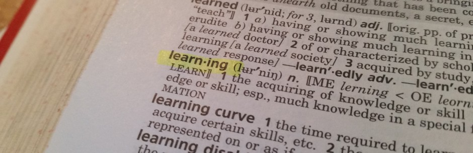 Dictionary definition of learning.