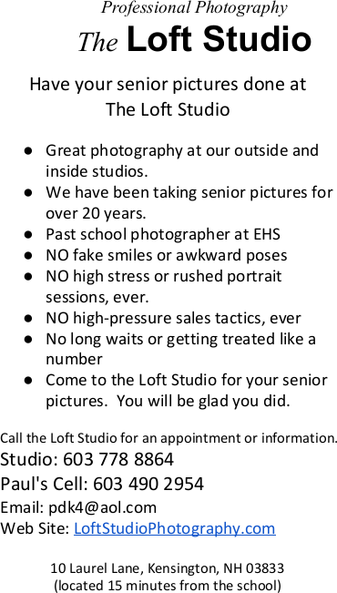 Loft Studio Photography advertisement