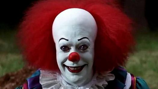 "Movie Version of Clown from Stephen King's ""It"""