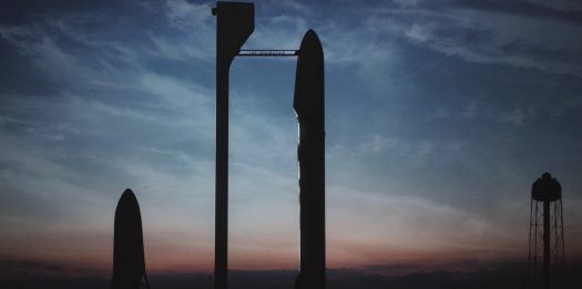 Computer-Generated Model Of SpaceX Rocket