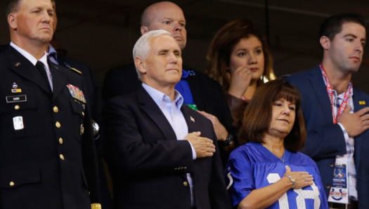 Pence's walkout has caused much controversy in the sports and politics world