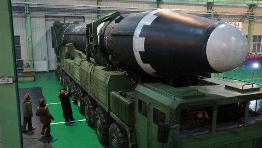 Kim Jong-Un inspects the Hwasong-15 before its launch on November 29