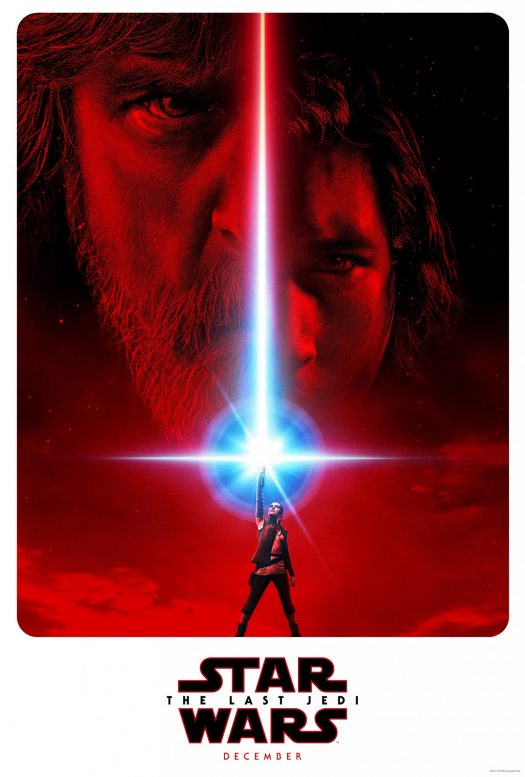 The movie poster for the new Star Wars movie, the Last Jedi