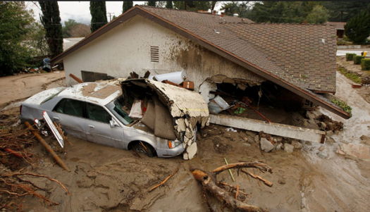 Damages done in La Canada Flintridge. Photo courtesy of cnn.com