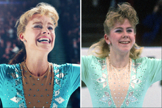 Lead actress, Margot Robbie, next to Tonya Harding herself.