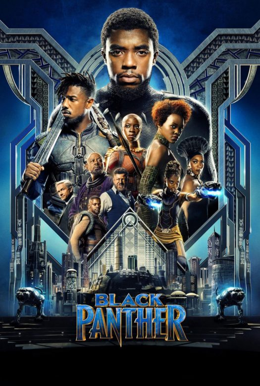"The movie poster for ""The Black Panther"", a new Marvel Movie, staring a mainly African American cast"