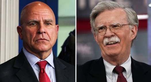 McMaster, left, is leaving under lots of tension and scrutiny from the President