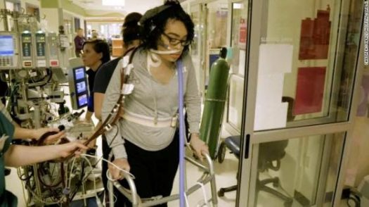 Zei Uwadia has been on life support since November, and has even walked while on it.