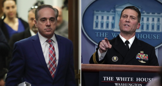 Shulkin, left, grew increasingly unpopular with Trump over the past few months