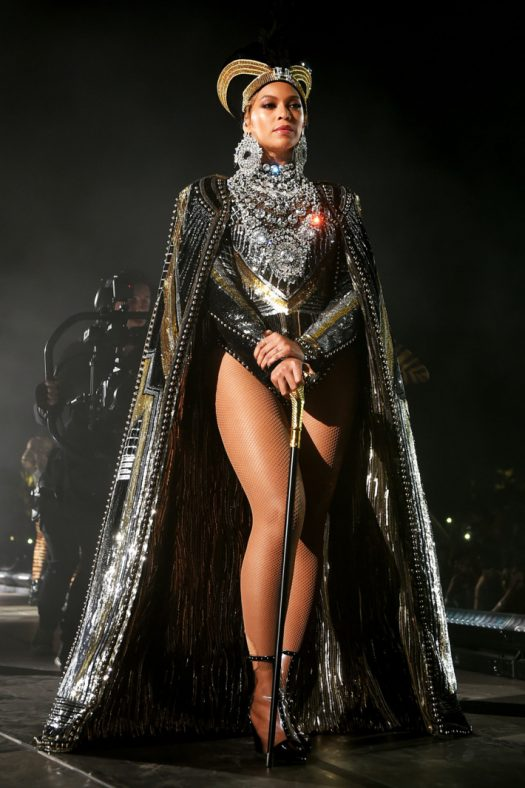 Beyonce with one of her many costume changes at Coachella