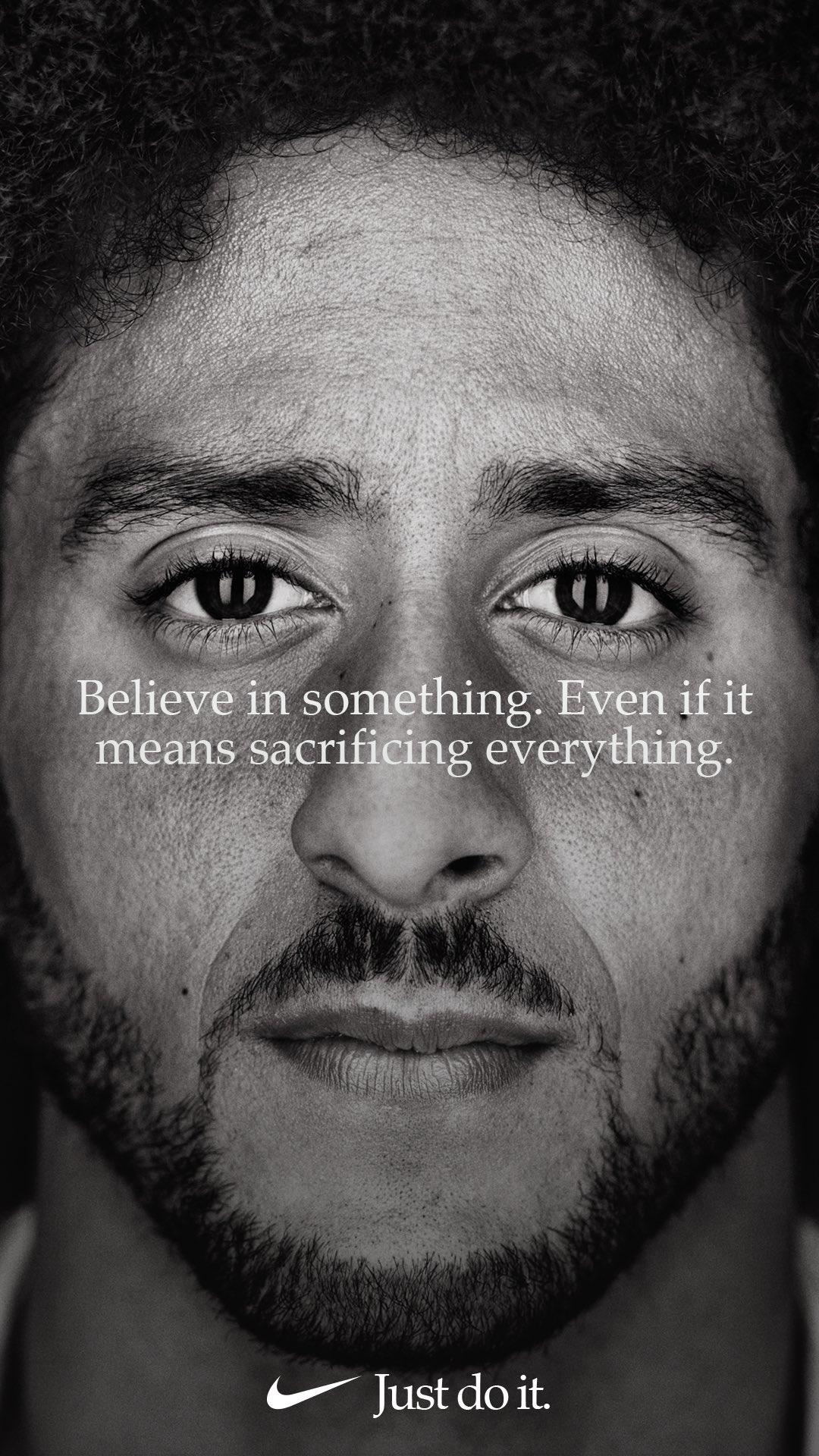 30th Anniversary Nike ad featuring Colin Kaepernick