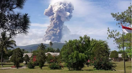 Volcano erupts in Sulawesi Island