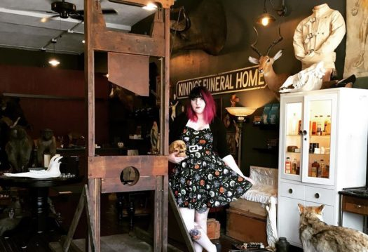 Co-owner Hallie Walace poses in her shop