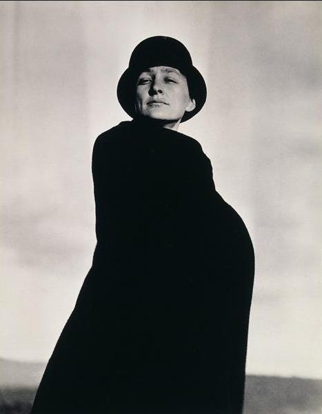O'Keeffe photgraphed by her husband circa 1920