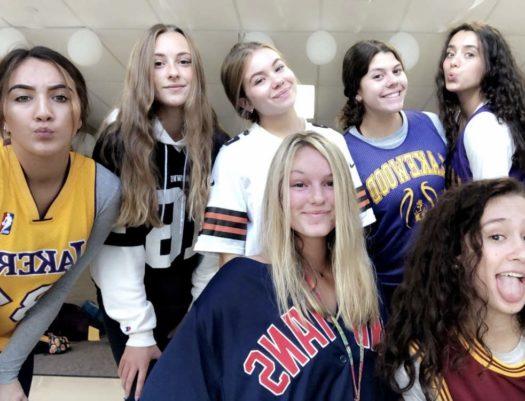 A few junior girls on jersey Thursday