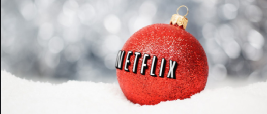 Netflix ornament display for the holidays