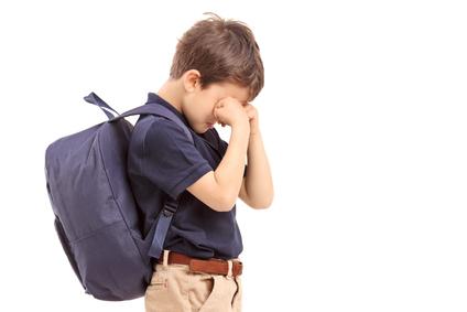 """""""Boy crying at school"""""""