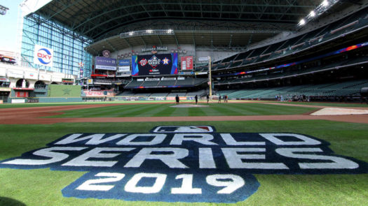 Minute Maid Park set up for Game 1