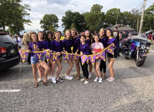 LHS gymnasts at the Spirit Parade