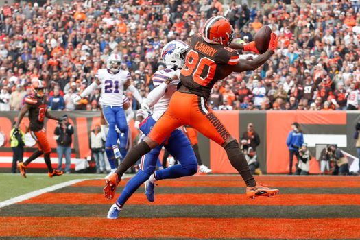 Landry catches first touchdown of the day