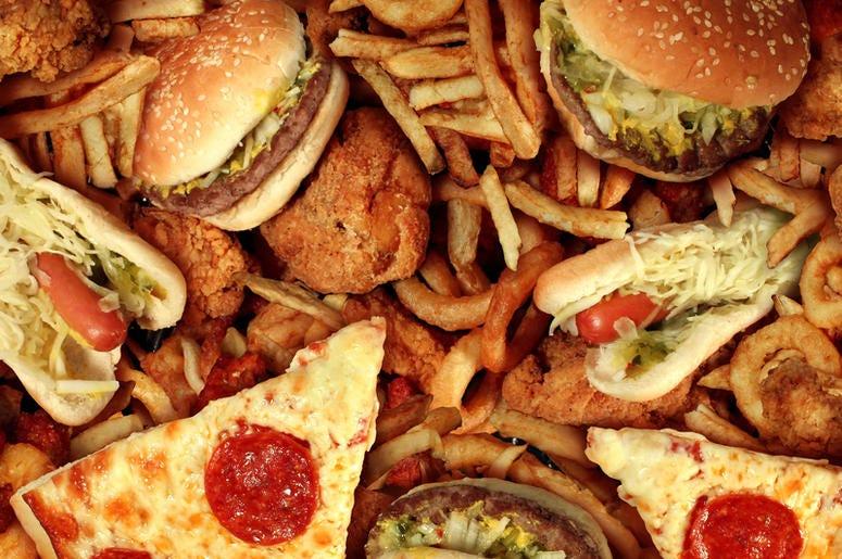 assortment of foods
