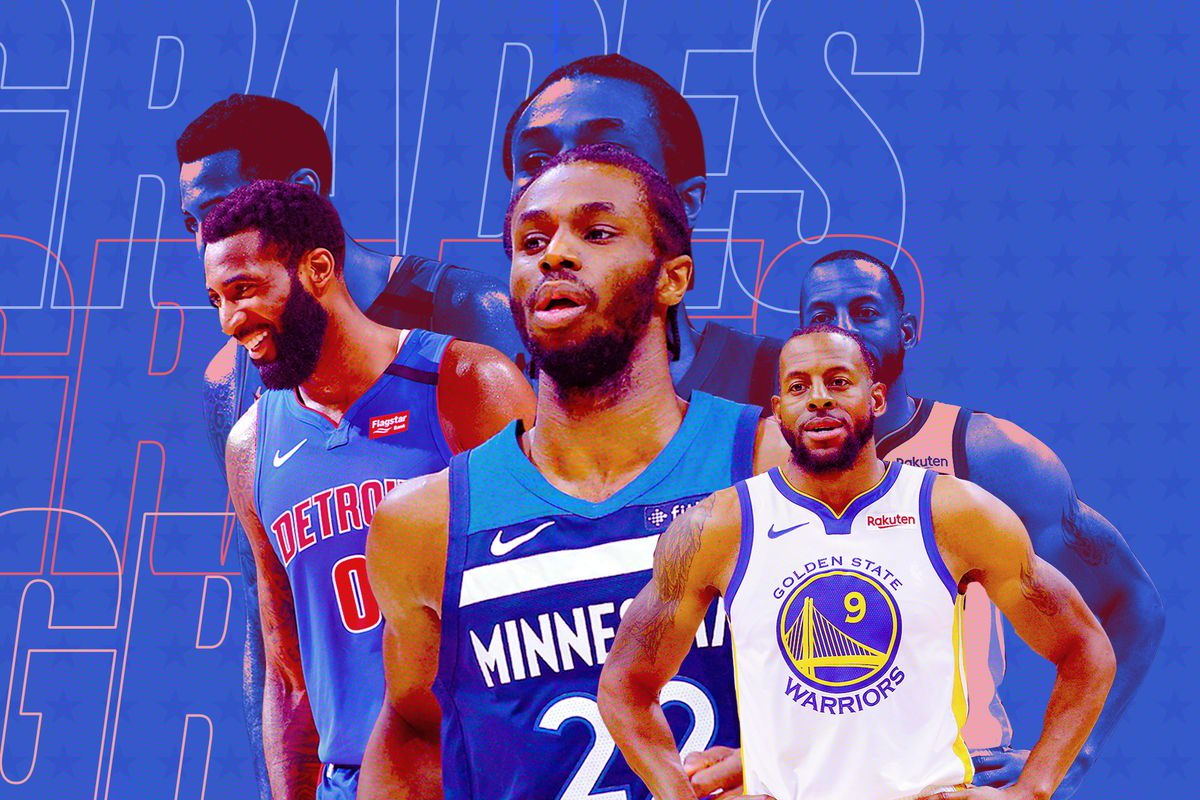 From the left: Drummond, Wiggins, and Iguodala with their former teams