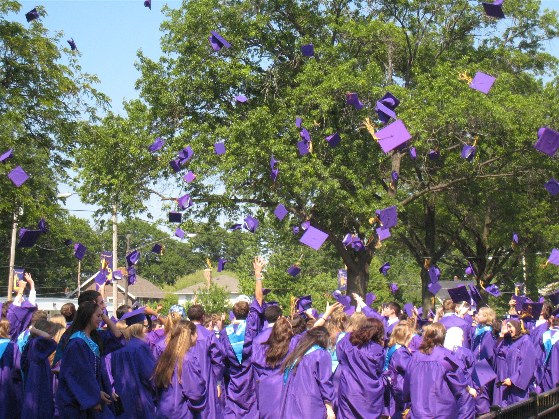 LHS 2020 graduates will be unable to toss their caps together as commencement will be online.