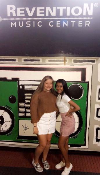 Freshmen Sunishka Bera and Kaylynn Smith at the Revention Music Center