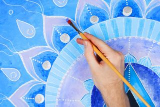 Painting to reduce stress