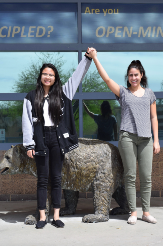 """Seniors Nini Tran and Angelica Garcia are expected to become the 2016-17 SV Valedictorians."""