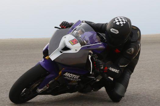 IB coordinator Tony Gebbia races Chuckwalla Valley Raceway in Southern California, in Turn 13.
