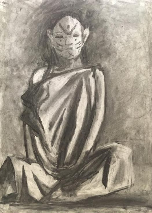 Berger's Art 3 charcoal piece.