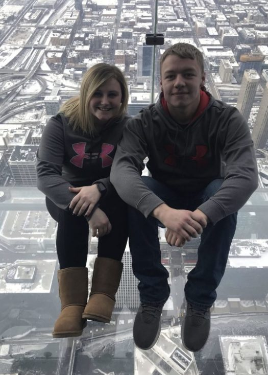 Seniors Makayla Lavier and Andrew Shalk visited Chiacgo's skydeck.