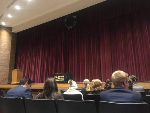Reed Custer High School's award Ceremony.