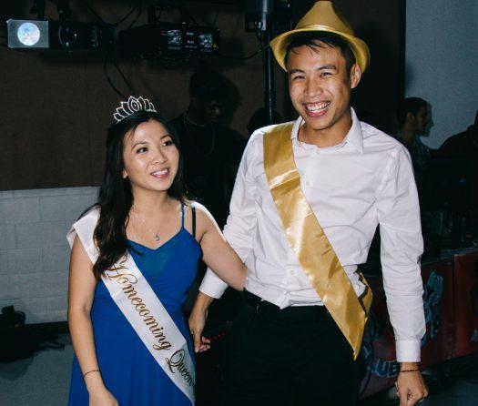 Homecoming King and Queen Tu Nguyen and Vui Tran