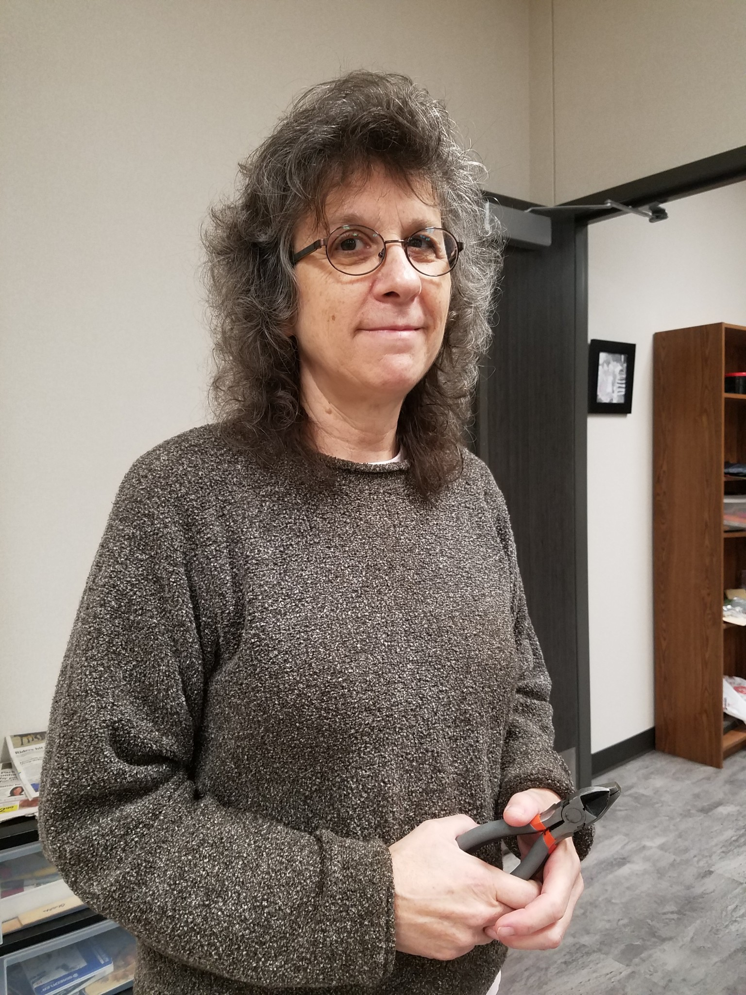 """LISA CANORRO (2-D ART TEACHER) """"Over Thanksgiving Break, I plan to get together with family and friends, and I also plan to work on my artwork and do some stuff around the house. That's pretty much it. Get some sleep!"""""""