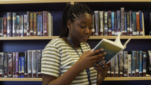 Sophomore Souraya Amirou says her New Year's resolution is to read more books.