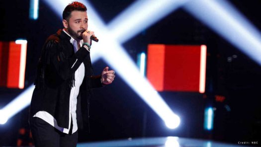 Former student Justin Kilgore auditions on The Voice.