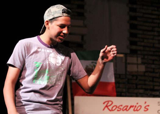 "Bocho Villagomez acts during a December production of ""In the Heights."""