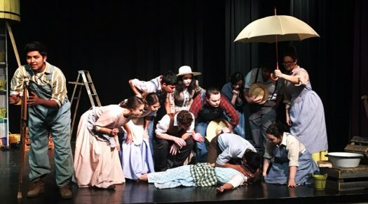 The OAP group holds a dress rehearsal. They will compete at regionals on April 16.