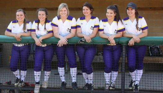 The seniors were honored at the final softball game of the season last night.