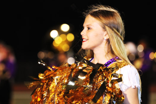 Freshman Trystah Dennix dances with the Bison Belles on Friday nights.