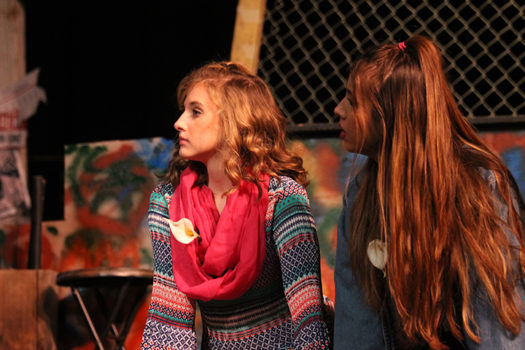 "Junior Andrea Daniel performs in a scene from ""Godspell."""