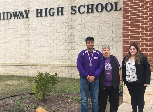 Jose Sanchez and Bailey Chase have been working on UIL with retired coach Tammy Oldham.