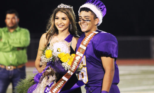 Seniors Kim Guevara and Roberto Garcia won the crowns for this year's Homecoming royalty.